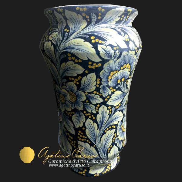 Portaombrelli in ceramica decorati a mano