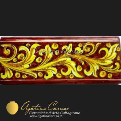 Mattonella/Piastrella, fascia, cornice, battiscopa in ceramica di Caltagirone