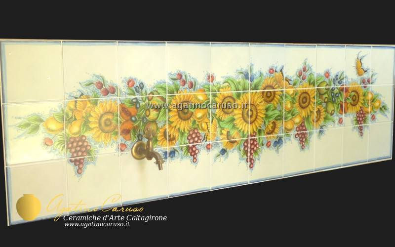 Pannelli in ceramica z ceramiche di caltagirone agatino caruso