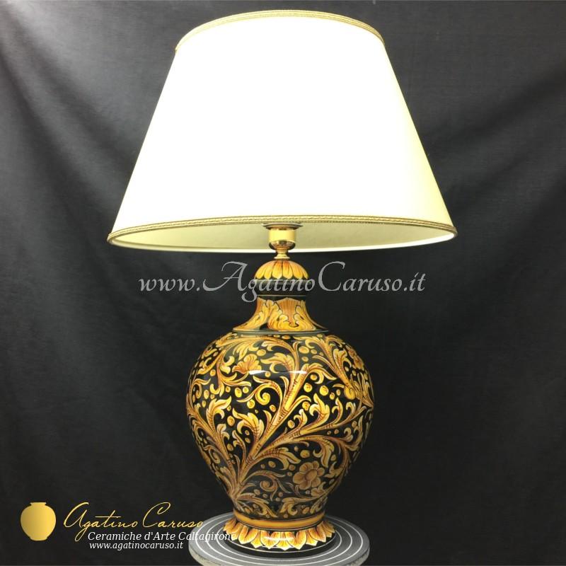 Lampada da camera in ceramica di Caltagirone