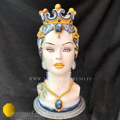 Vaso antropomorfo in maiolica Siciliana, ceramiche d'arte Agatino Caruso