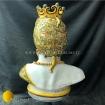 Testa a vaso antropomorfa in maiolica Siciliana dipinto a mano. Realizzazioni in ceramica di Caltagirone Agatino Caruso