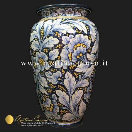 Portaombrelli in ceramica di Caltagirone dipinto a mano