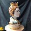 Vaso antropomorfo modellato e decorato a mano in maiolica di Caltagirone. Ceramiche d'Arte Agatino Caruso
