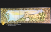 Pannello paesaggistico in Ceramica di Caltagirone dipinto a mano. Raffigurante la torre di Manfria